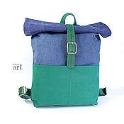 Сумки и аксессуары handmade. Livemaster - original item Backpack tarpaulin Sea-2. Handmade.