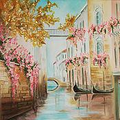 Картины и панно ручной работы. Ярмарка Мастеров - ручная работа Венеция Цветущая. Handmade.