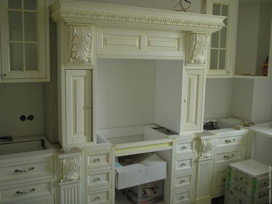 Мебель ручной работы. Ярмарка Мастеров - ручная работа. Купить Белая кухня из дуба. Handmade. Белый, мебель из дуба