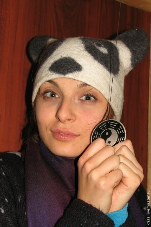 Шапки ручной работы. Ярмарка Мастеров - ручная работа. Купить шапка Панда. Handmade. Белый, шапка зимняя, панда