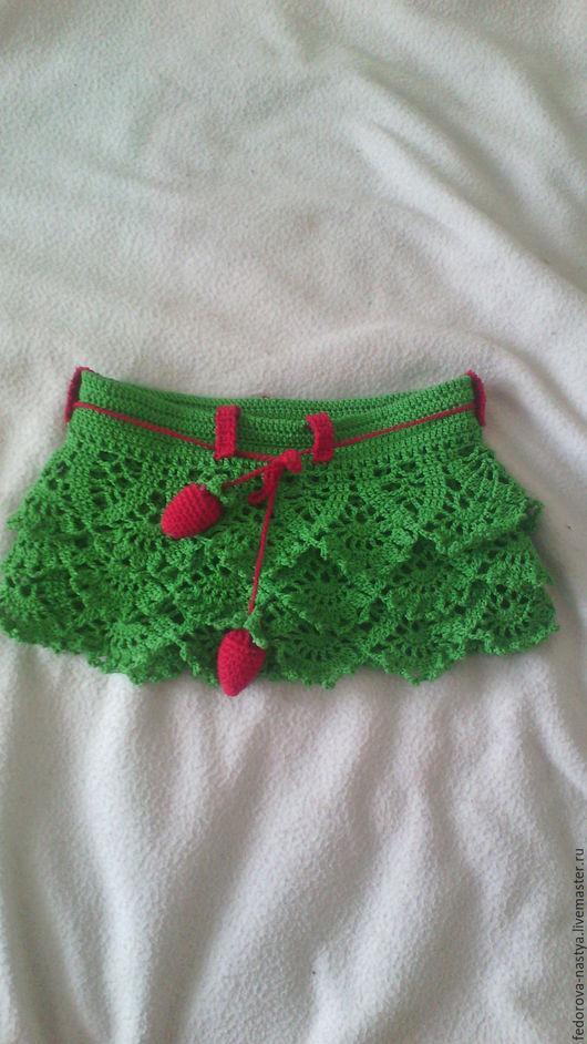 Одежда для девочек, ручной работы. Ярмарка Мастеров - ручная работа. Купить юбочка для девочки. Handmade. Зеленый, юбка для девочки