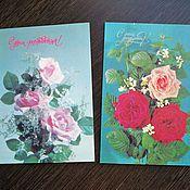 Винтаж ручной работы. Ярмарка Мастеров - ручная работа Советские открытки (2). Handmade.