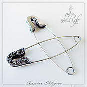 Материалы для творчества handmade. Livemaster - original item Basis for brooches, pins - silver 925. Handmade.