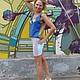 Юбки ручной работы. Комбинированная юбка из трикотажа на заказ. HК-бренд. Интернет-магазин Ярмарка Мастеров. Юбка летняя, сиреневый