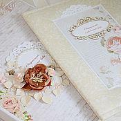 Свадебный салон ручной работы. Ярмарка Мастеров - ручная работа Свадебный комплект: папка для свидетельства и короб для хранения. Handmade.