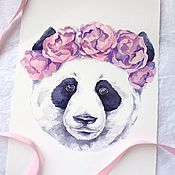 Картины и панно handmade. Livemaster - original item Watercolor Lovely panda. Handmade.