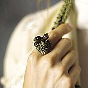 Украшения handmade. Livemaster - original item Ring Eastern bird with Topaz and vintage beads. Handmade.