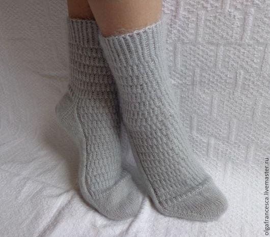 Носки, чулки ручной работы. Носки вязаные. Носочки вязаные «ДЫМКА» из коллекций «ПОДАРКИ». Olgafrancesca . Ярмарка мастеров.