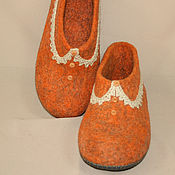 Обувь ручной работы handmade. Livemaster - original item Felted Slippers are darling. Handmade.