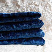 Материалы для творчества ручной работы. Ярмарка Мастеров - ручная работа Плюш синий. Handmade.