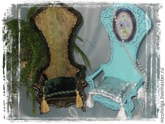 Кукольный дом ручной работы. Ярмарка Мастеров - ручная работа. Купить Трон (2 вида) кукольный. Handmade. Болотный, для мишек
