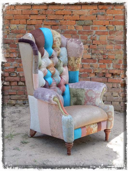 Мебель ручной работы. Ярмарка Мастеров - ручная работа. Купить кресло винтаж 5. Handmade. Кресло пэчворк, авторская мебель