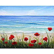 Картины и панно handmade. Livemaster - original item Maquis oil painting Seascape. Handmade.