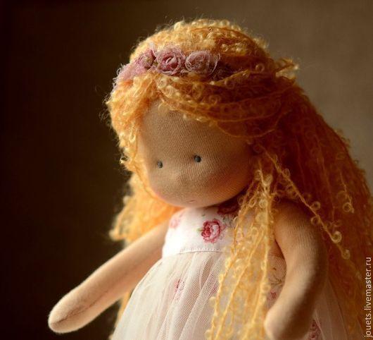 Вальдорфская игрушка ручной работы. Ярмарка Мастеров - ручная работа. Купить Маруся, маленькая принцесса 34см. Handmade. Кремовый, шёлк