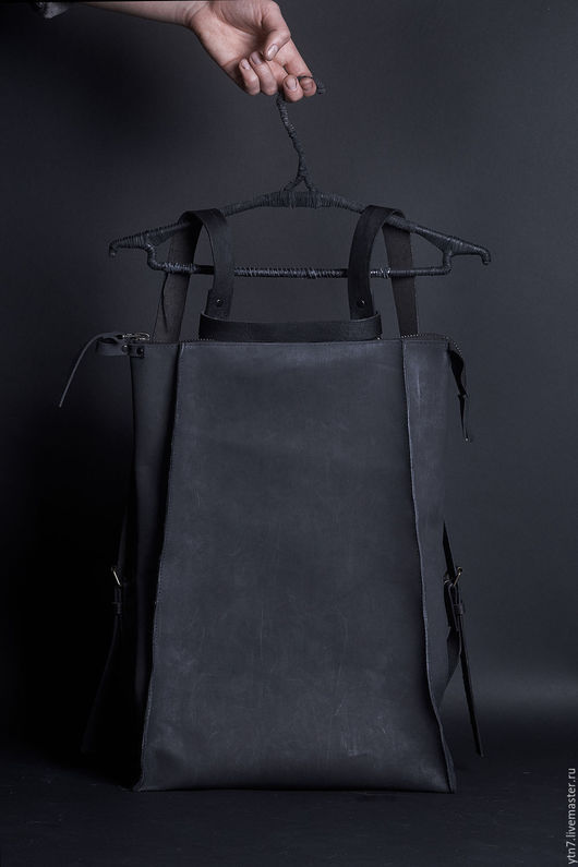 Рюкзаки ручной работы. Ярмарка Мастеров - ручная работа. Купить Рюкзак 071Y. Handmade. Черный, рюкзак из кожи, рюкзак городской