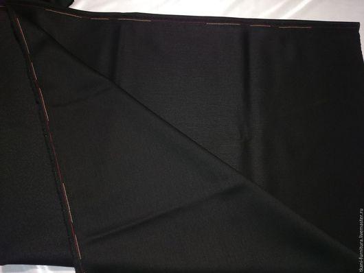 Шитье ручной работы. Ярмарка Мастеров - ручная работа. Купить Костюмная ткань, чёрная. Ост.0,6м. Handmade. Черный