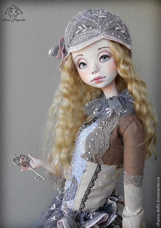Коллекционные куклы ручной работы. Ярмарка Мастеров - ручная работа. Купить Люция. Handmade. Сиреневый, мохеровый тресс