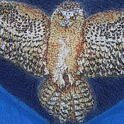Одежда ручной работы. Ярмарка Мастеров - ручная работа Валяный детский жилет с рисунком орла. Handmade.