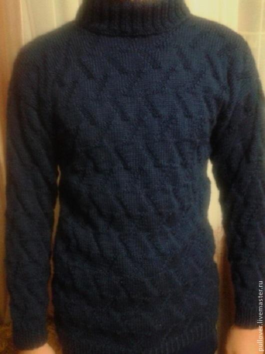 Кофты и свитера ручной работы. Ярмарка Мастеров - ручная работа. Купить Мужской свитер. Handmade. Тёмно-синий, свитер мужской
