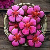 Сувениры и подарки handmade. Livemaster - original item Gingerbread flowers. Handmade.