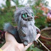 Куклы и игрушки ручной работы. Ярмарка Мастеров - ручная работа Чеширский котик мини. Handmade.