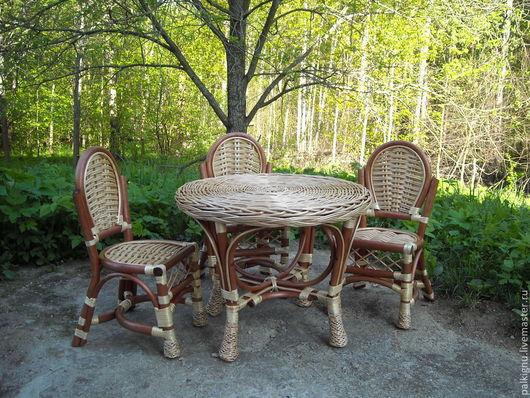 Мебель для детей плетеная из ивовой лозы.