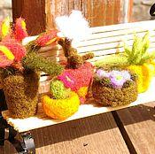 Куклы и игрушки ручной работы. Ярмарка Мастеров - ручная работа Комнатные цветы из шерсти. Handmade.