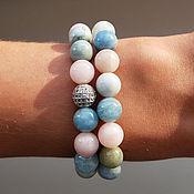 Украшения handmade. Livemaster - original item Bracelets of morganite jewelry accessories. Handmade.
