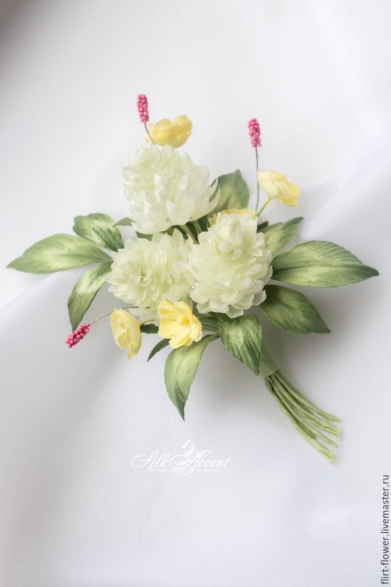 Brooch Clover A Bouquet Of Field Flowers Silk Flowers Shop