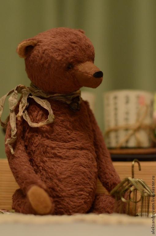 """Мишки Тедди ручной работы. Ярмарка Мастеров - ручная работа. Купить Тедди мишка """"Мишка с клеткой"""". Handmade. Коричневый, вискоза"""