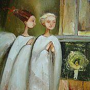 Картины и панно ручной работы. Ярмарка Мастеров - ручная работа Два ангела хранителя.. Handmade.