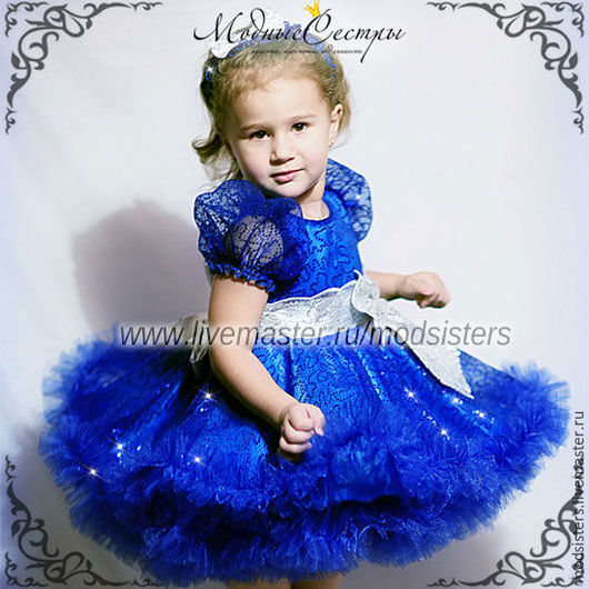 """Одежда для девочек, ручной работы. Ярмарка Мастеров - ручная работа. Купить Платье """"Королева"""" Арт.256. Handmade. Тёмно-синий"""