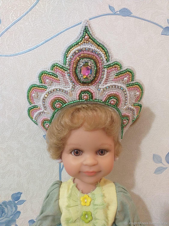 ПРОДАНО! Кокошник для кукол Нежный лотос, Одежда для кукол, Москва,  Фото №1