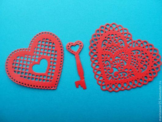 Открытки и скрапбукинг ручной работы. Ярмарка Мастеров - ручная работа. Купить Вырубка Два сердца и ключ. Handmade. Вырубка