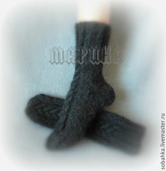 Носки, Чулки ручной работы. Ярмарка Мастеров - ручная работа. Купить НОСКИ козий пух пуховые. Handmade. Черный, носочки