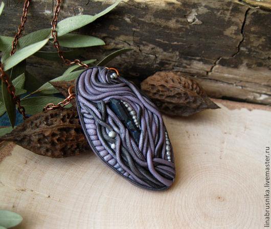 кулон из полимерной глины `Подарок феи`, автор - Алина Логинова (украшения `Брусника`).