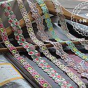 Материалы для творчества ручной работы. Ярмарка Мастеров - ручная работа Кружево с вышивкой. Handmade.
