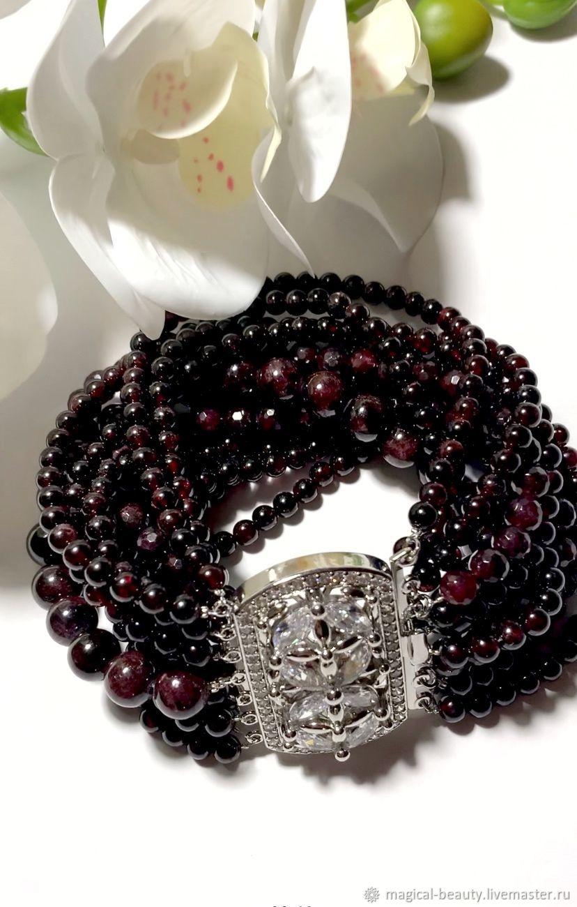 Garnet bracelet, Bead bracelet, Moscow,  Фото №1