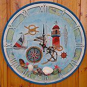 Часы ручной работы. Ярмарка Мастеров - ручная работа Часы в морском стиле. Handmade.