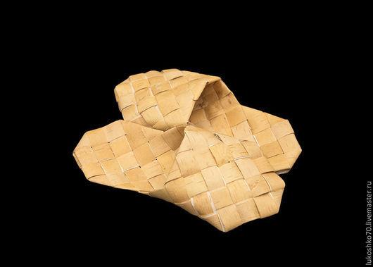 Обувь ручной работы. Ярмарка Мастеров - ручная работа. Купить Шлепанцы из бересты. Тапочки для дома. Handmade. Изделия из бересты, лапти