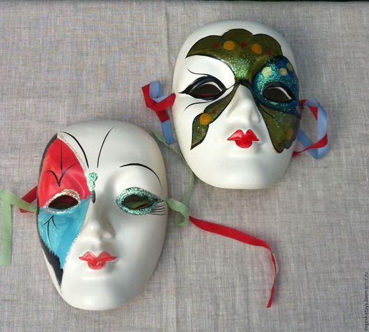 """Винтажные предметы интерьера. Ярмарка Мастеров - ручная работа. Купить Гипсовые маски """"Карнавал"""", Голландия, 80 - е гг. Handmade."""