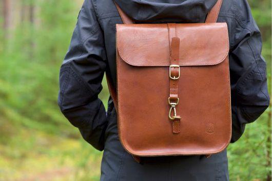 Рюкзаки ручной работы. Ярмарка Мастеров - ручная работа. Купить кожаный рюкзак. Handmade. Коричневый, вощеная нить, кожа из финляндии