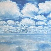 Картины и панно ручной работы. Ярмарка Мастеров - ручная работа По дороге с облаками. Картина пастелью. Handmade.