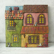 Картины и панно handmade. Livemaster - original item Pictures: Cats in the old town. Handmade.