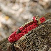 Украшения handmade. Livemaster - original item Leather Axe bracelet. Handmade.