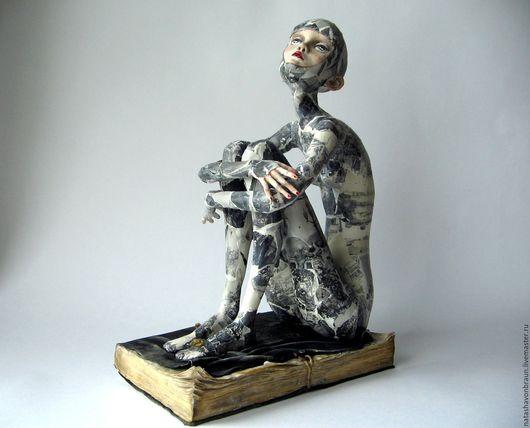 Коллекционные куклы ручной работы. Ярмарка Мастеров - ручная работа. Купить Skin City. Handmade. Черный, современное искусство