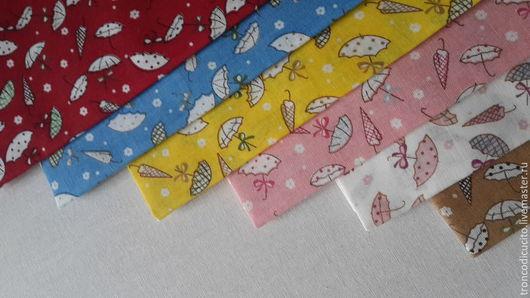 Шитье ручной работы. Ярмарка Мастеров - ручная работа. Купить Ткань для творчества зонтики( пэчворк,тильда,тедди,скрапбукинг). Handmade.