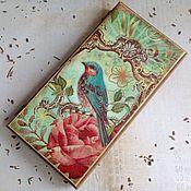 Для дома и интерьера ручной работы. Ярмарка Мастеров - ручная работа Птица певчая - купюрница. Handmade.