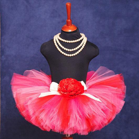 """Одежда для девочек, ручной работы. Ярмарка Мастеров - ручная работа. Купить """"Сладкий поцелуй"""" пышная юбка-пачка из фатина. Handmade."""