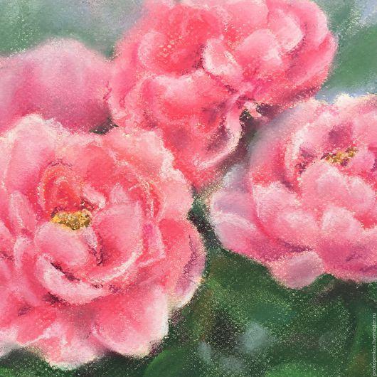 Картины цветов ручной работы. Ярмарка Мастеров - ручная работа. Купить Нежность. Handmade. Бледно-розовый, пионы, пастель, картина